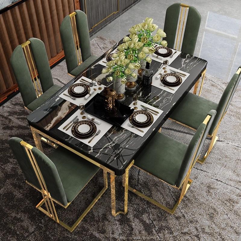 6인용세라믹식탁 돌 10인용 4인 6인 8 가벼운 고급 대리석 식탁 홈 작은 아파트, 1.4m 대리석 식탁