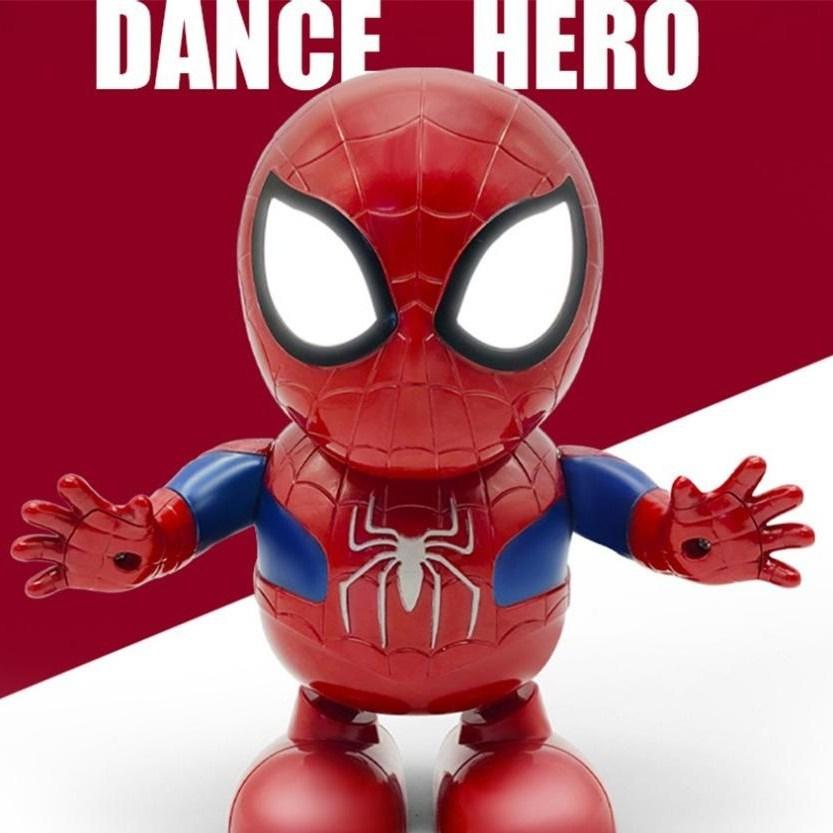 어벤져스 댄스 히어로 시리즈 LED 춤추는 아이언맨 스파이더맨 범블비 헐크 타노스 로봇, 춤추는 스파이더맨