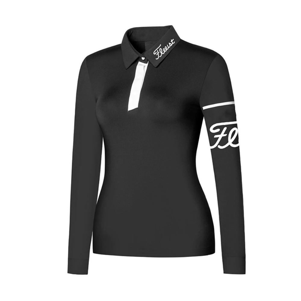 타이틀리스트 여성골프웨어 긴팔티셔츠 소매포인트z, 검정