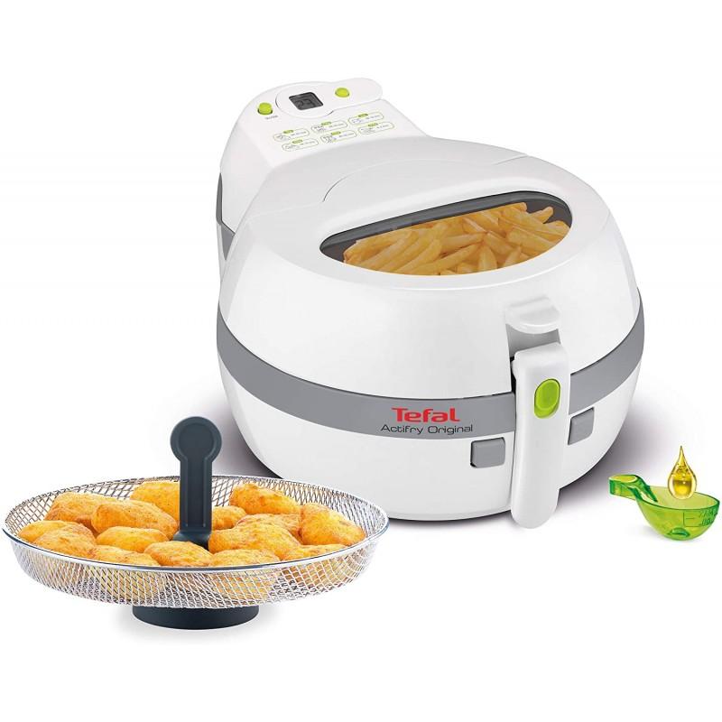 Tefal FZ7110 액티프라이 오리지널 스낵 핫 에어 프라이어 (1400 W 용량 1kg 스낵 요리 바구니 바삭한 감자 튀김 기름이없, 단일옵션, 단일옵션