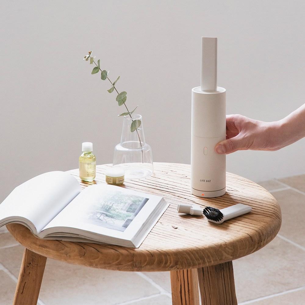 라이프썸 핸디형 무선 충전 청소기(LFS-HA17) 코코넛 밀크 핸디청소기, 코코넛밀크
