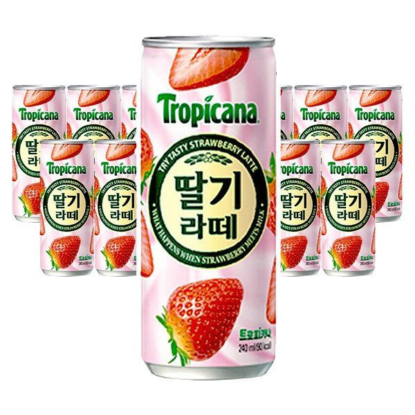 트로피카나 딸기라떼 240ml x 30캔 x 2박스, 단일상품
