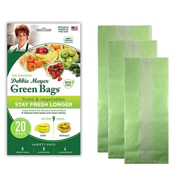 [이라운드몰]데비마이어 그린백- 재사용가능 식품보관백 20팩, 옵션선택, 20 Pack