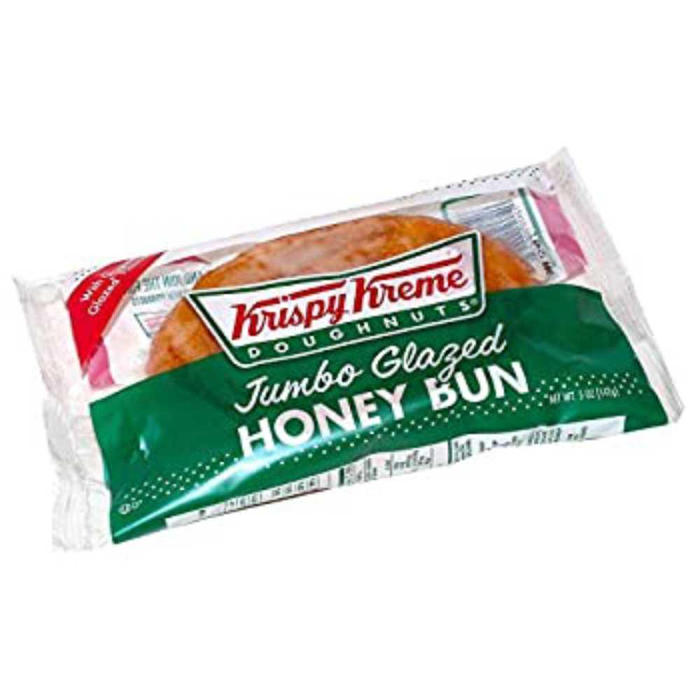 Krispy Kreme Doughnuts Jumbo Glazed Honey Bun 5 Ounce (Pack of 9), 1