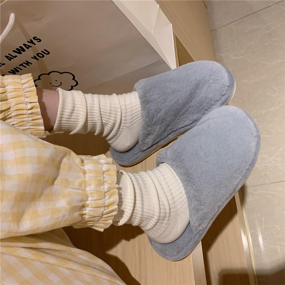 Jan.14 215번 크리에이티브 큐트 캐릭터 패딩 슈즈 여성 겨울 실내용 패션 인스 슬리퍼Z