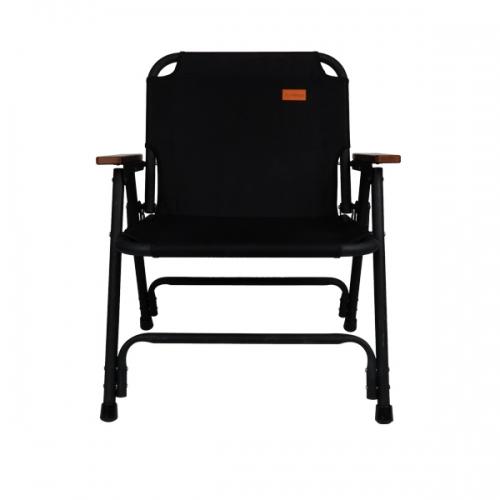 아베나키 솔리드 폴딩체어 플랫체어 캠핑의자, 1개, 블랙