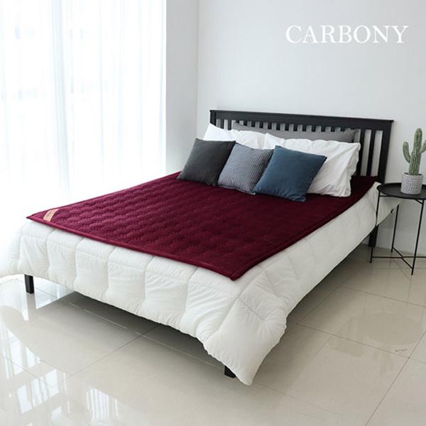 Carbony 탄소전기매트 극세사 와인칼라(1인용 2인용), 와인칼라 2인용(150X200cm)