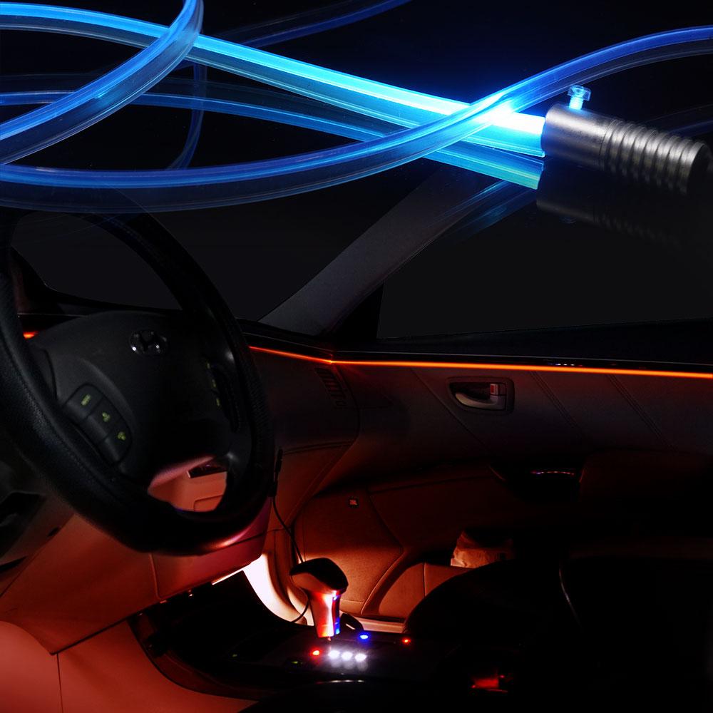삼항 자동차량 엠비언트 무드등LED 무소음 광섬유 EL와이어, 3W LED아이스블루
