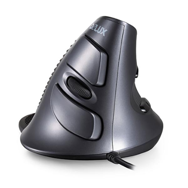 무선 버티컬마우스 M618 광 인체공학 손목보호 PC 사무용, 블랙유선