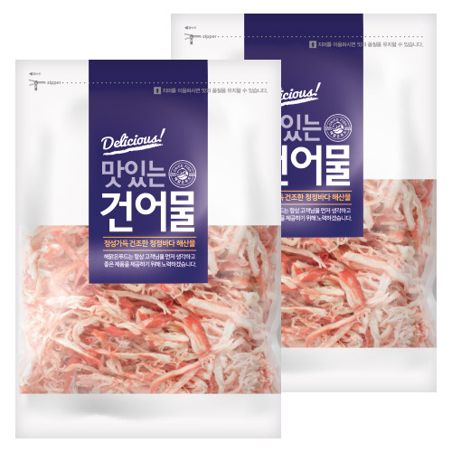 해맑은푸드 홍진미 오징어채, 1kg, 2개