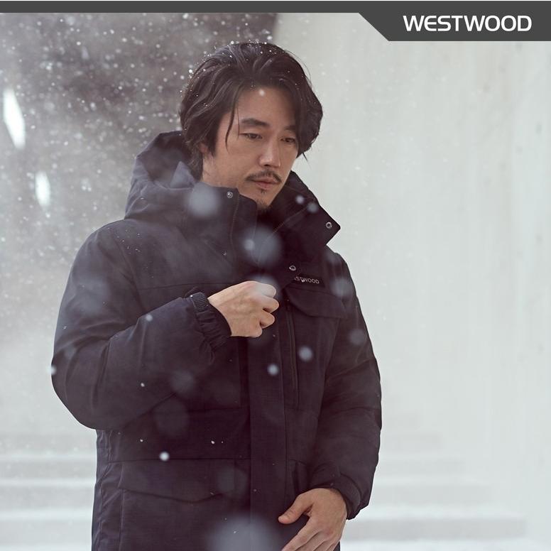 웨스트우드 [역시즌특가!!!70%]남성 멜란지 사파리 다운자켓 다운자켓_pt 등산 다운패딩