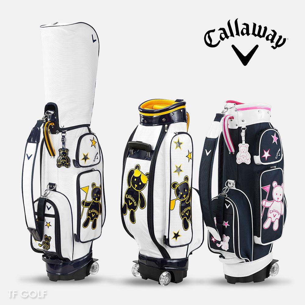 캘러웨이코리아 2021 베어 여성용 바퀴형 캐디백 골프가방, 화이트