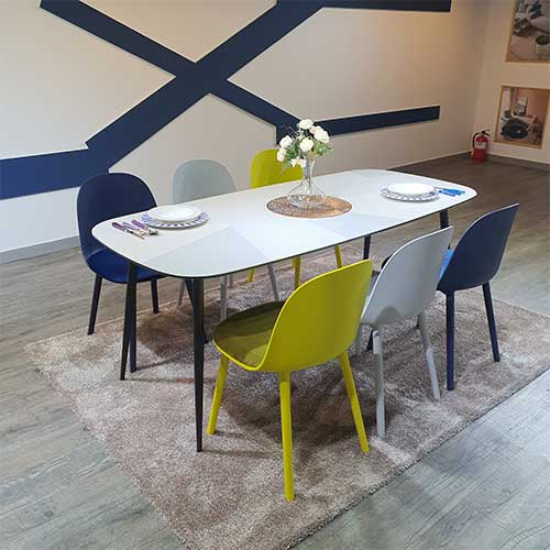 돌체비비드 이태리 포세린 4인용 6인용 세라믹식탁세트 (의자포함), 4인용식탁세트(의자4개)