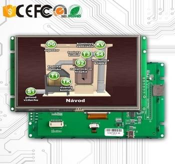 [해외] 산업용 제어 애플리케이션 rs232 인터페이스가있는 10.1 인치 lcd 모니터 터치, 상세내용표시