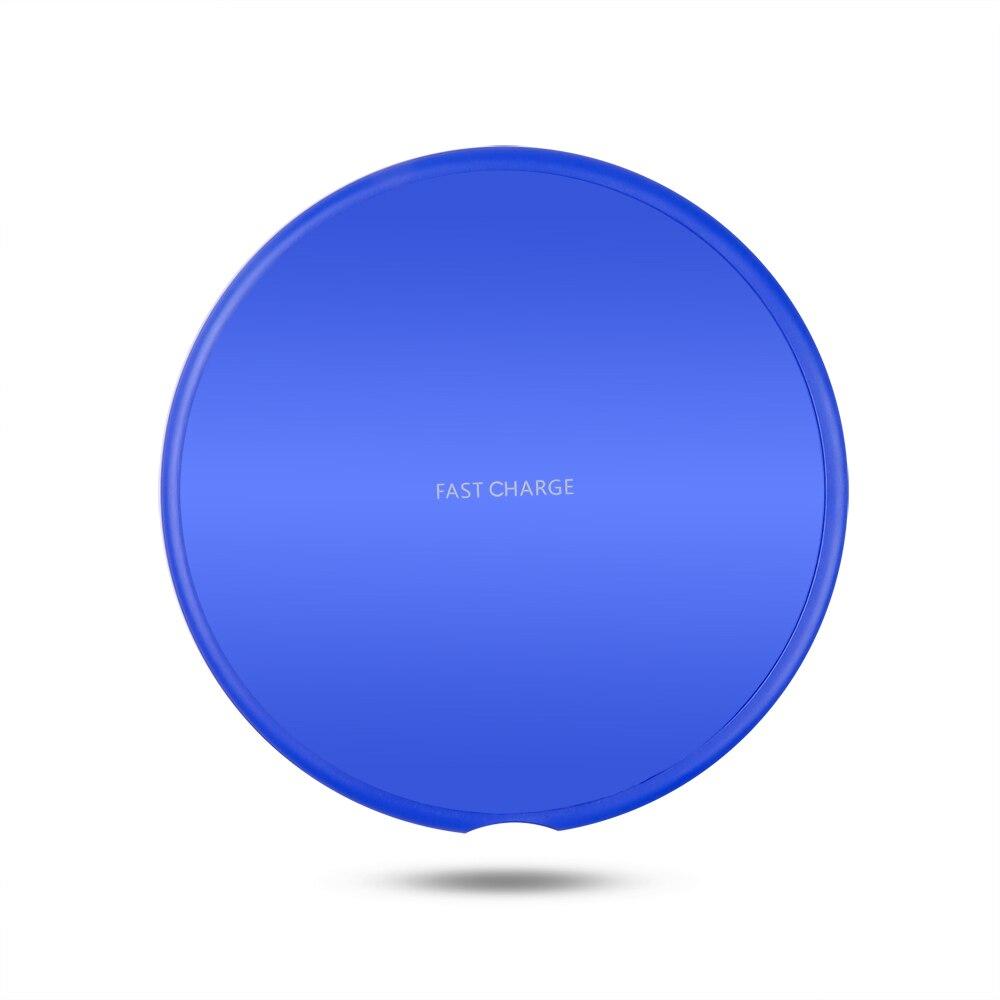 SZKOSTON QI 10W 빠른 무선 충전기 삼성 갤럭시 S9/S9 + S8 S7 참고 9 S7 가장자리 USB 충전 패드 아이폰 XS 최대 XR X 8, Blue (POP 5707197527)