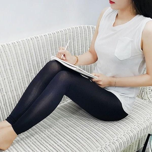 여름레깅스 쫄바지 천연 인견 홈웨어 쿨링 레깅스 여성 스판 쫀쫀 여름 시원한 쿨