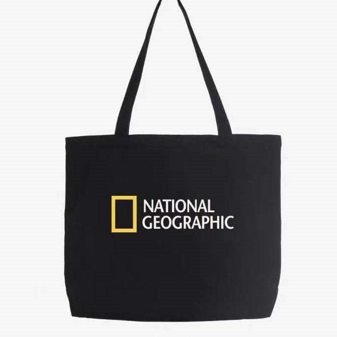 네셔널지오그래픽 토트백 에코가방 남녀공용 커플 캔버스백
