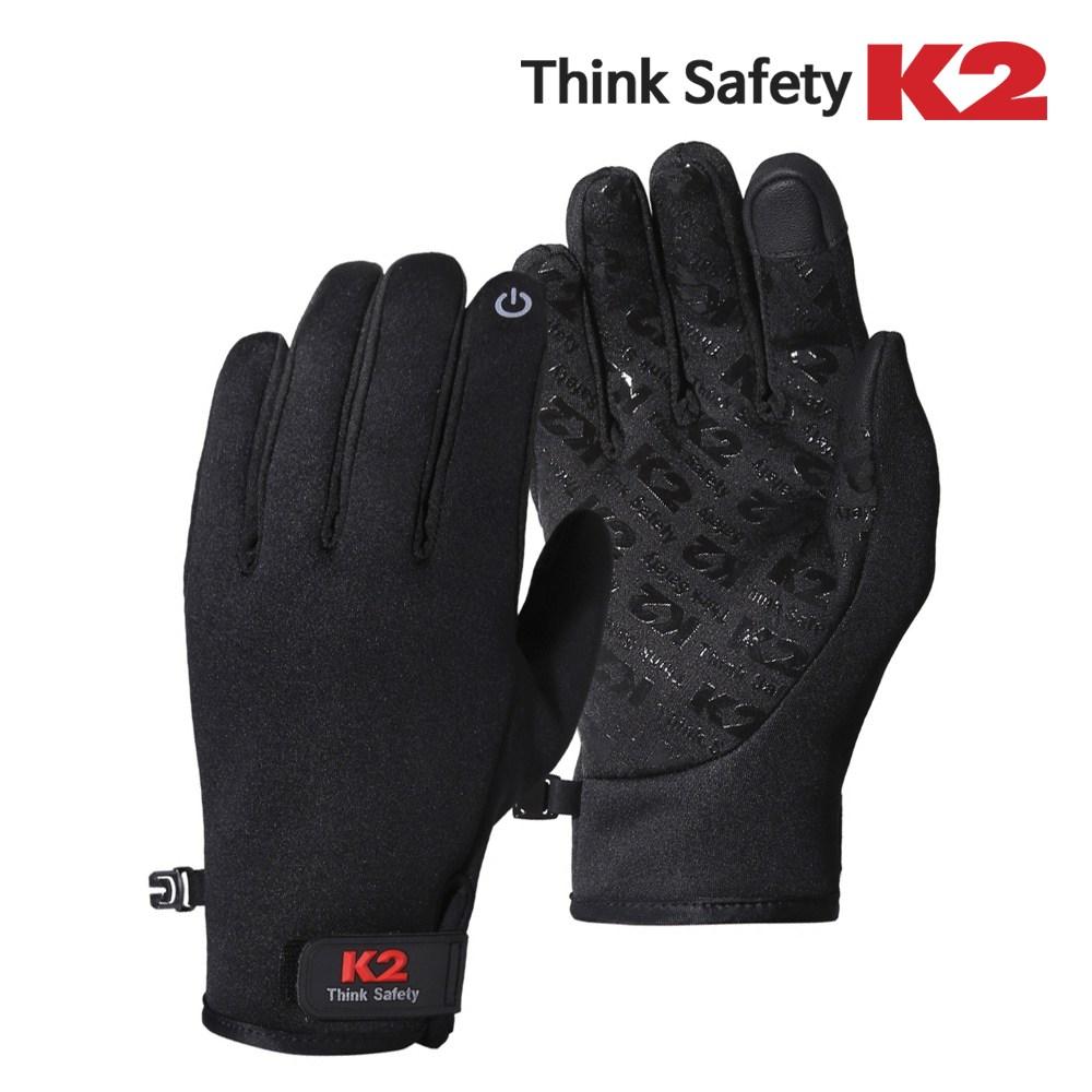 K2 이지웜장갑 보아털장갑 겨울장갑 방한장갑 털장갑 스마트폰터치가능, 블랙
