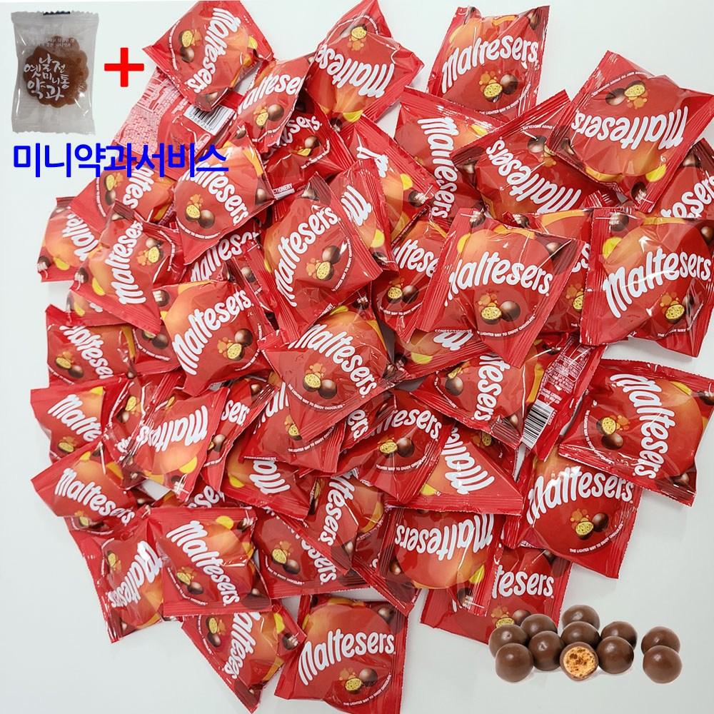 마즈 몰티져스 초코볼 12g X 25 개별포장 미니약과서비스 수입초콜릿 유튜버 먹방 초콜릿, 25개