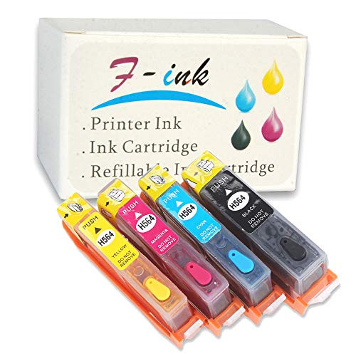 F-INK Full Refillable Ink Cartridge Replacement For HP 564 564XL InkWorks With Deskjet 3070A 3522 3526 Photosmart 5510 5511 5514 5515 5522 6510 b, 본문참고