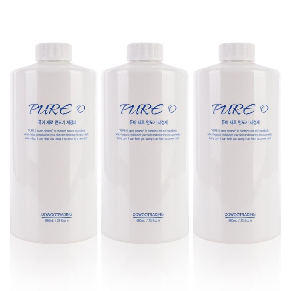 퓨어제로 브라운면도기 세척액 호환리필 CCR2 CCR4 3개 면도기세정액 세정액, 브라운 호환 세정액 (3개)