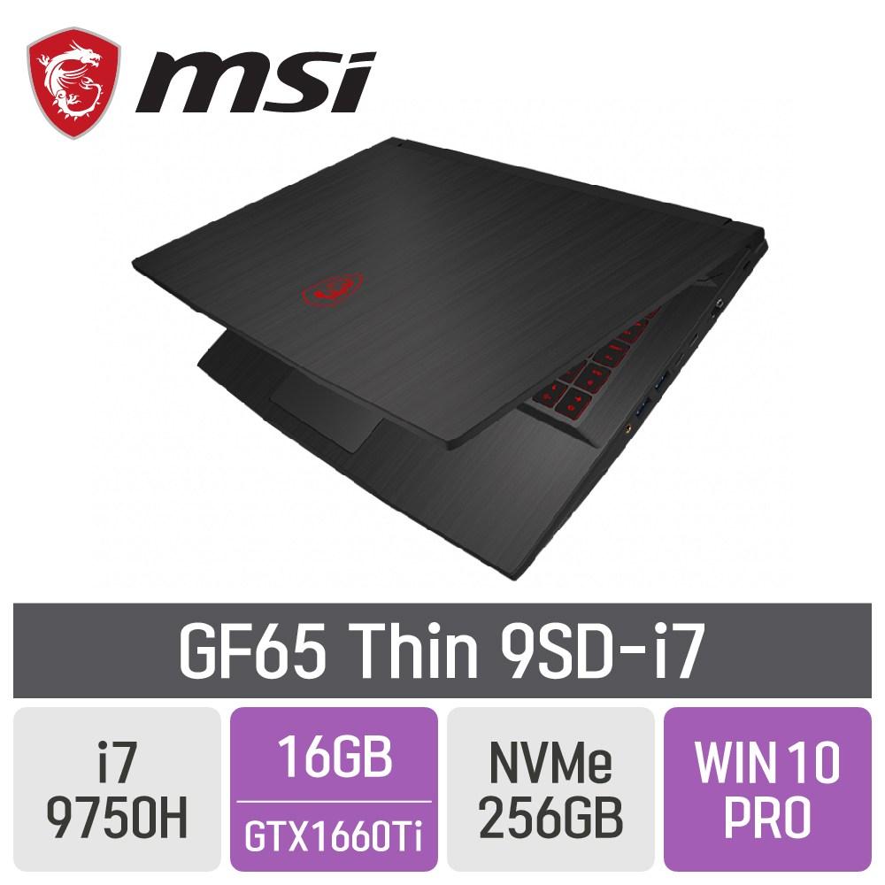 MSI GF65 Thin 9SD-i7 [게이밍마우스 증정], 16GB, SSD 256GB, 포함