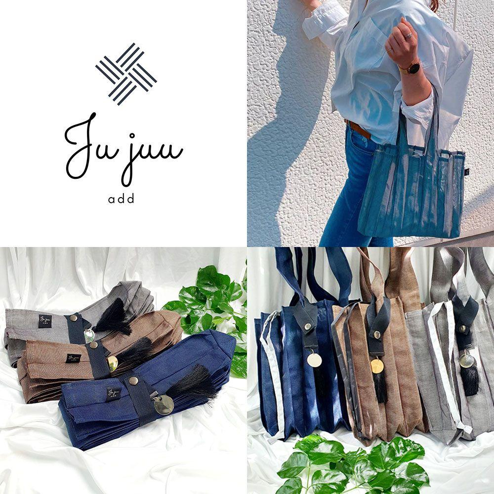 sn· 파우치 세트 Jujuu에코 주름가방과 에코 주주 jujuu ST2024
