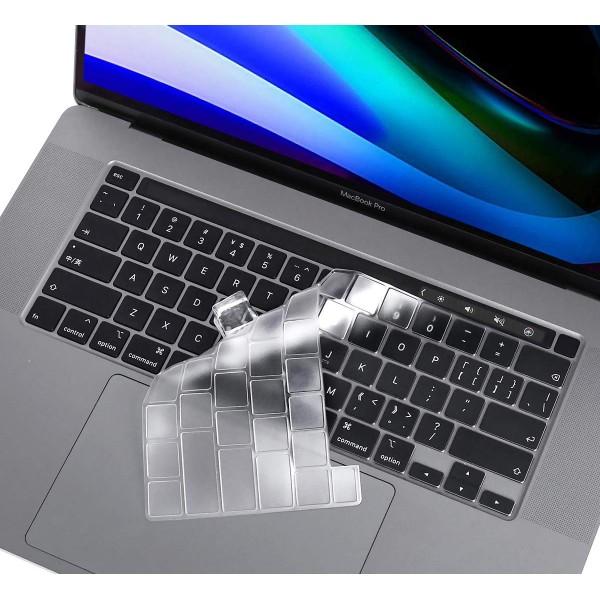새로운 맥북에 대한 울트라 씬 지우기 키보드 커버는 터치 바  터치 ID 키보드 스킨 프로텍터와 2019 릴리스 A2141 16 인치 프로 i