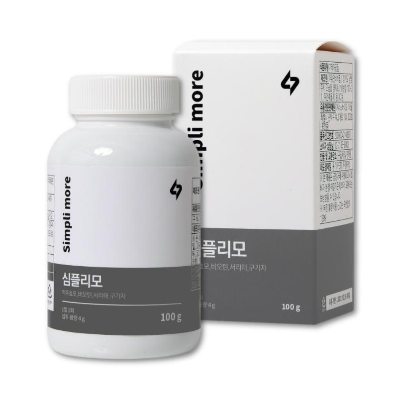 심플리모 모발 관리 맥주효모 비오틴 서리태 구기자 고함량, 1개월분