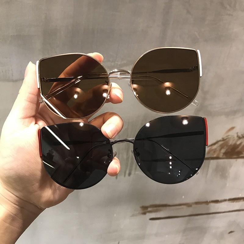 2019년 트렌드 여름 휴가철 여행 선글라스 선글라스 캣츠아이 선글라스 여성 패션 2019 한국판 선그라스