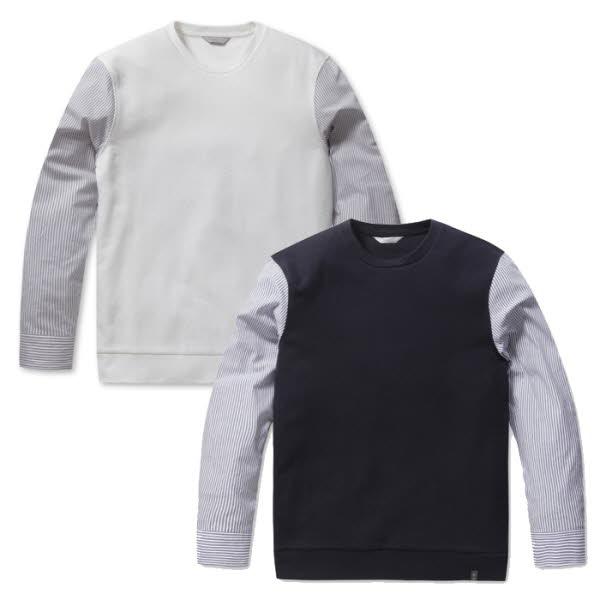 프로젝트엠 엠폴햄 남성 소매 셔츠 배색 맨투맨 (EPA1TR1302) 2001아울렛 중계