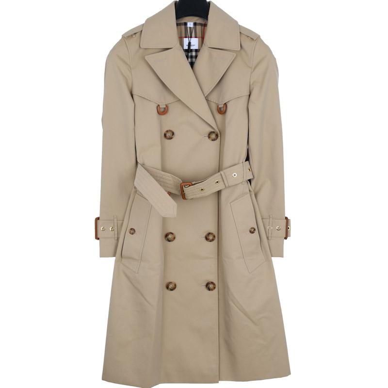 국내배송)버버리 8014155 개버딘 여성 트렌치 코트