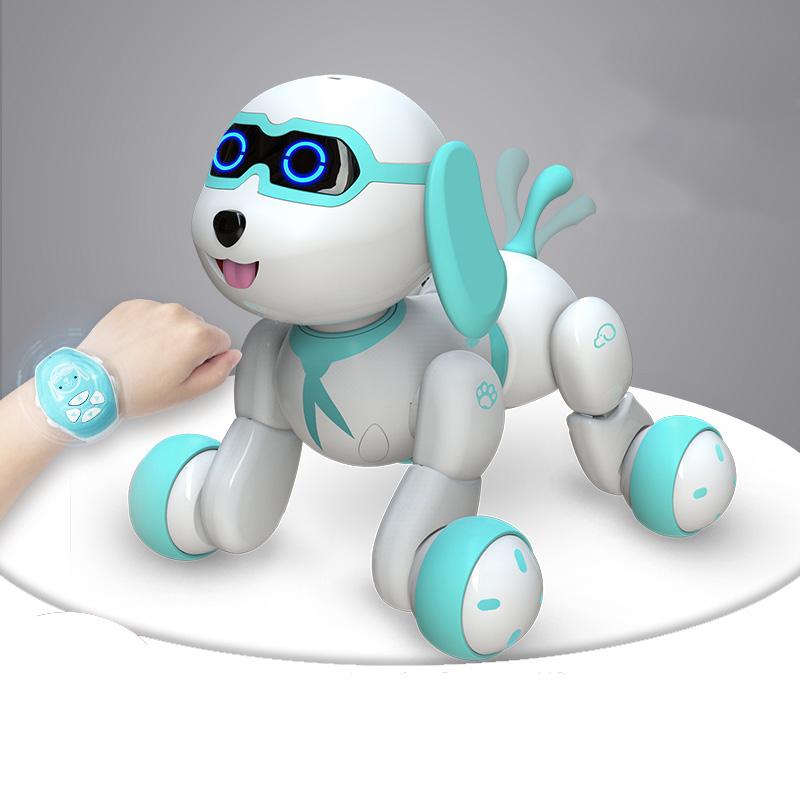폴라도레 강아지 로봇 장난감 무선 애완 조종 +폴라도레사은품증정(W), 01-A블루강아지[리모컨]