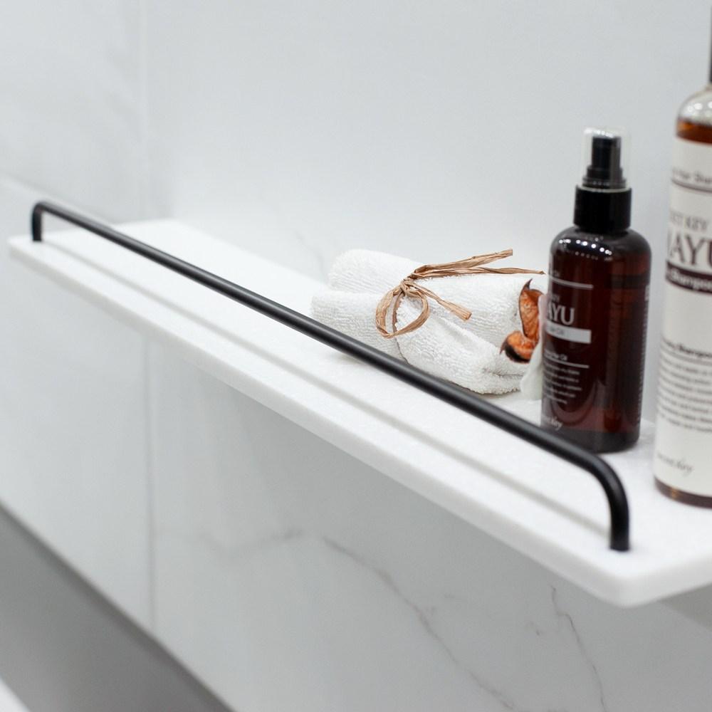 욕실 화장실 일자선반 600 호텔 욕실용품 정리 인조대리석 마블러스 화이트