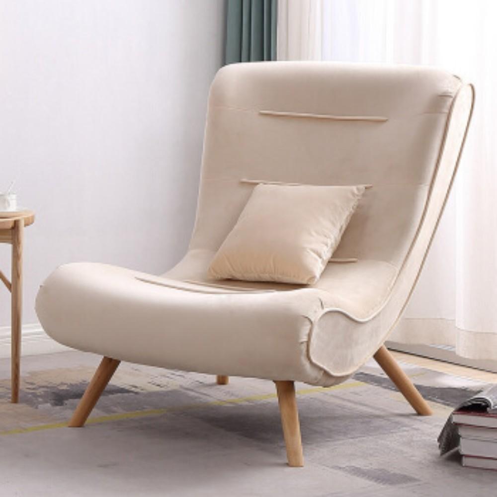 발받힘 디자이너 의자 북유럽 소파 1인용 달팽이 의자 침대 발코니 베란다 임스라운지체어 이몰라체어 이케아스트란드몬 로제까사안락의자 이케아펠로, 베이지 싱글 의자
