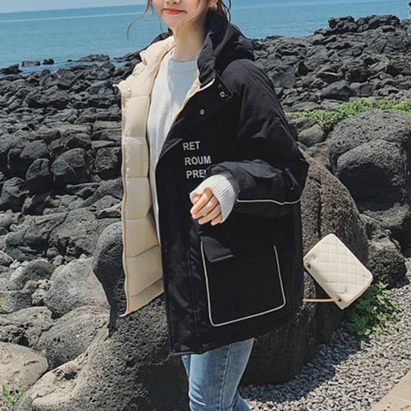 EVSOUMAC kirahosi 남여 패딩 패션 트렌드 커플 야상 캐주얼 355호 덧신증정