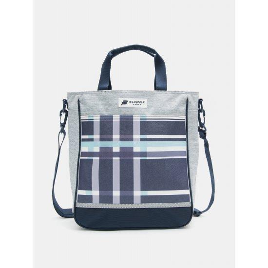 빈폴스포츠 CHECK BOX MINI 보조 가방, 밝은회색(실버)