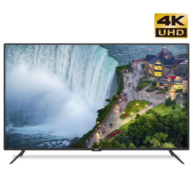 에이스 55인치 TV 4K UHD 삼성패널 고화질 스탠드 무료설치, 와이드뷰 55인치TV 제품만 받기
