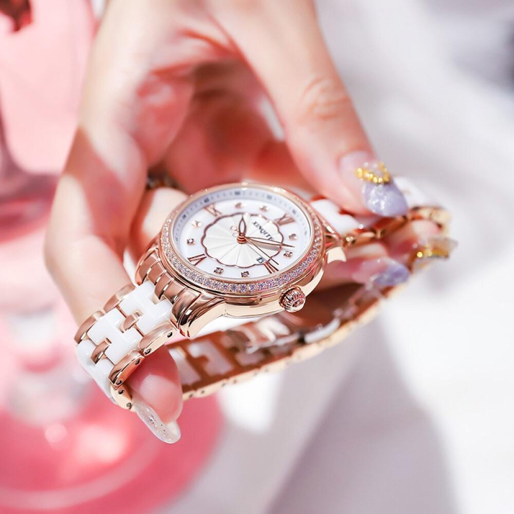 DITA 2020 브랜드 도자기 시계 여성 트 렌 드 방수 전자 동 기계 인 스타 그램 패션 야광 맞 춤 형 석영 손목시계 선물 레 터 링 간