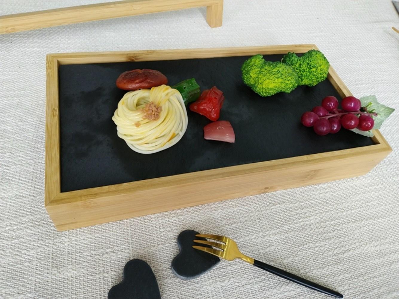 일식집 혼술 오마카세 회포장 포장초밥 월남쌈 카나페 우드 계단식 접시 트레이, 1단 32X17CM