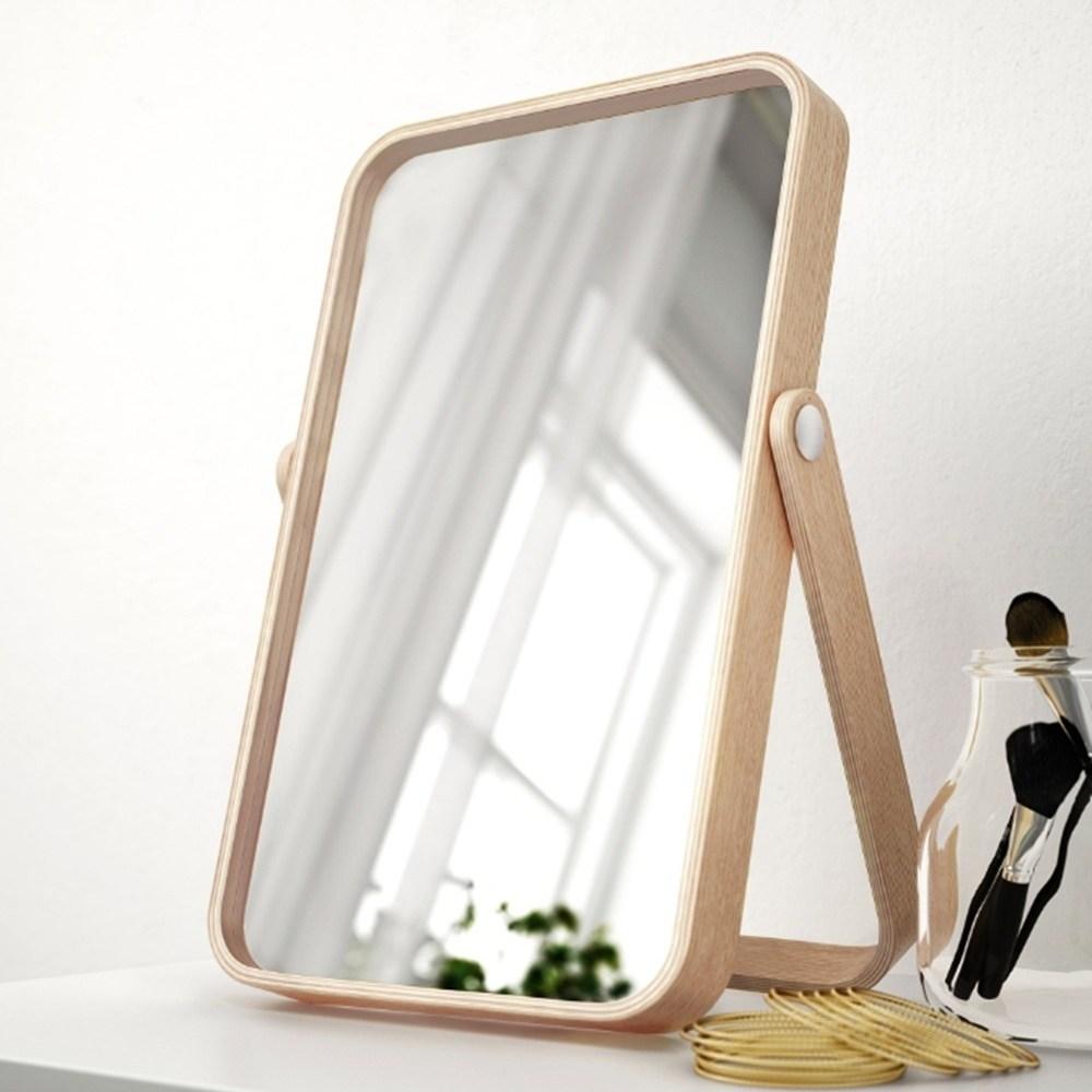 이케아 IKORNNES 이코르네스 탁상거울 물푸레나무27x40 cm 벽걸이용 화장대거울 욕실거울 거울, 원목거울