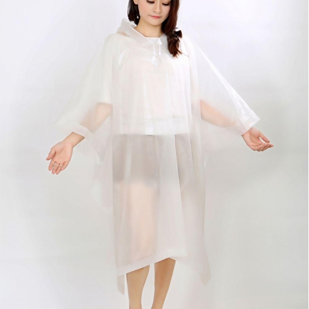같은공간-레인데이 판초 우비 화이트 비옷 우비 디자인레인코트 판초레인코트 판초우의-SS