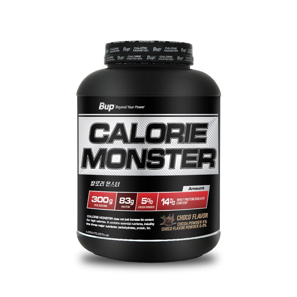 뉴트리션스토어 BUP 칼로리몬스터 초코맛 체중증가 게이너, 1통, 4kg