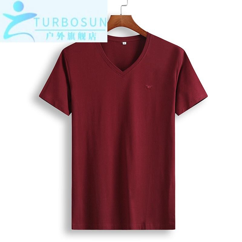 남성 속 건 반팔 트 레이 닝 복 특대 사이즈 의 티셔츠 여름 에 빅 사이즈 의 티셔츠 남자 뚱뚱 한 남자 와 뚱뚱 한 v 넥 셔츠 뚱뚱 한 사람 트 렌 디 한 빨간색 XL