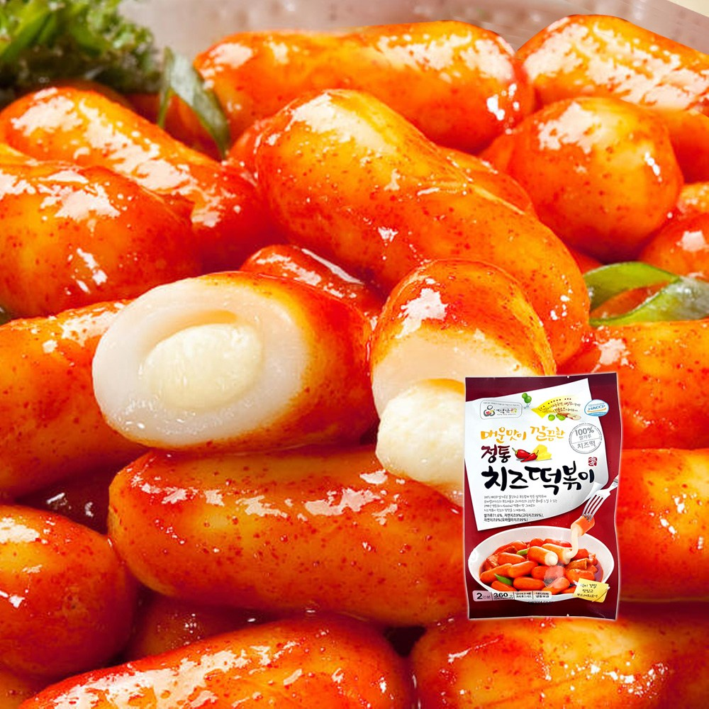 떡안애 정통치즈떡볶이 360g 매콤달콤고추장맛 떡볶이, 1개