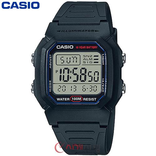 카시오 10년전지 W-800H-1A 남성 전자시계 (군인)