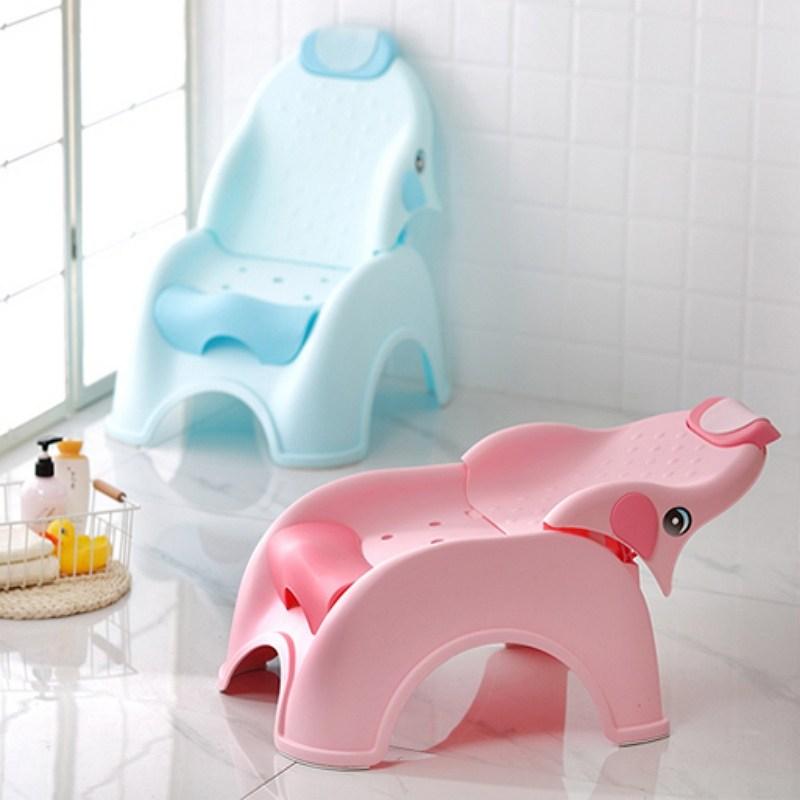 칠나무 키즈 샴푸의자 유아 목욕의자 아기 소형 5, 핑크