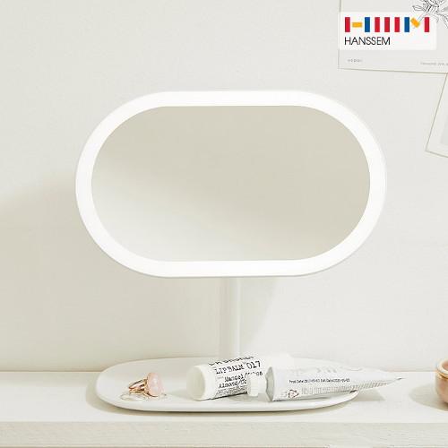 한샘(생활) [한샘] 오즈 LED 조명거울 타원형 화장대 인테리어 탁상 스탠드, 오즈 LED 조명거울 타원형 (LIV23R1)