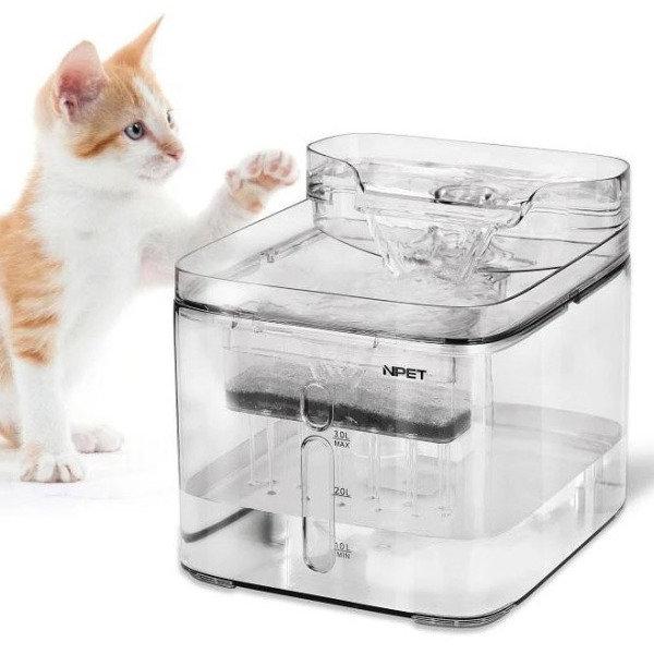 [펫메이드] 엔펫 강아지 고양이 투명 저소음 정수기 3L, 선택:엔펫 정수기 3L