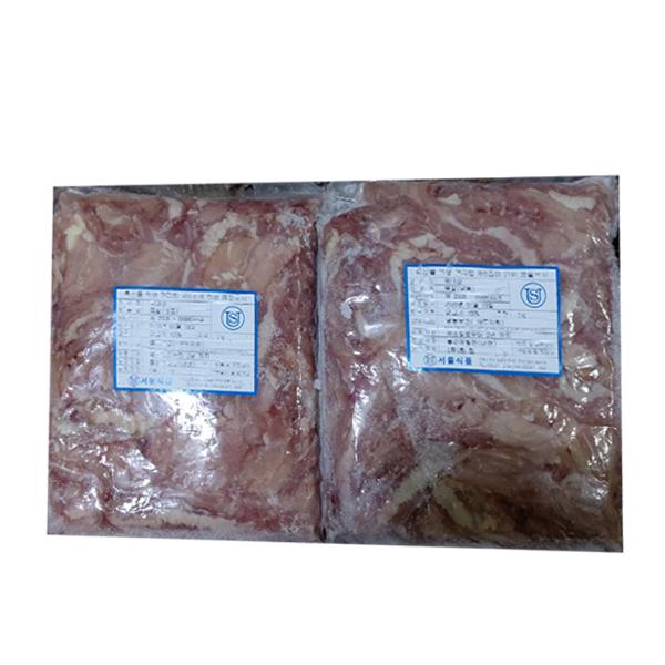 닭목살 2kg 닭강정 닭갈비 깐풍기 손질닭X6묶음(무료배송), 6팩